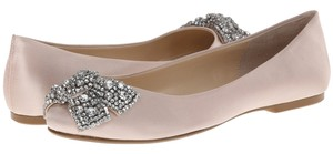 Betsey Johnson Blue By Ever Satin Ballerines Bow champagne Flats