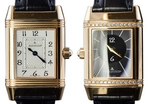 Jaeger-LeCoultre Jaeger LeCoultre Reverso Duetto Classique Ladies Diamond Bezel 18K Solid Rose Gold Watch