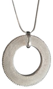 NEW! 925 silverplated Mesh circular pendant