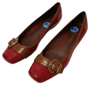 Bandolino Red and Tan Flats