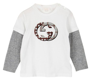 Gucci Logo Kids Infant T Shirt White