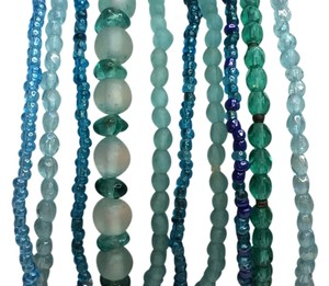 Zara Turquoise Elastic Beaded Bracelet Set of Ten