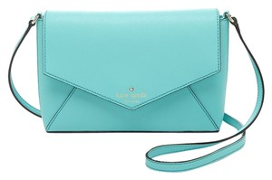Kate Spade Saffiano Leather Envelope Large Flap Cute Shoulder Cross Body Bag