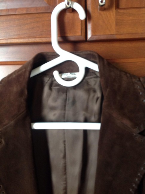 Miu Miu Suede Dark brown Leather Jacket