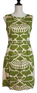 Anthropologie short dress Green and Ecru on Tradesy