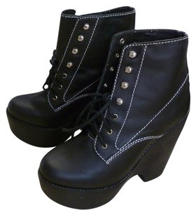 Jeffrey Campbell Wedge Black Boots