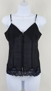 Kimchi Blue Silk Lace Trim Date Night Urban Outfitters Top Black