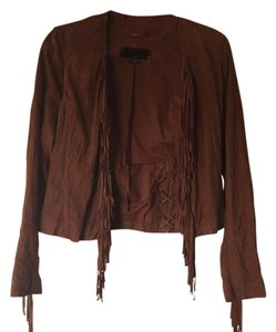 Dolce Vita Brown Suede Leather Jacket