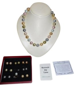 Kenneth Jay Lane Kenneth Jay Lane 2009 Inaugural simulated pearl necklace & earrings set