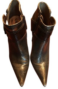 Carlos by Carlos Santana Large Buckle Wrap Around Bronze Boots