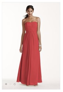 David's Bridal Guava F15555 Dress