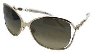 04750602ad9 Gucci Gg 4250 N S J5ged Gold   White Frame W Brown Gradient New 4250 N S  60-17 W Crystals Lenses Sunglasses - Tradesy