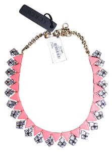 J.Crew J.CREW BEADED CRYSTAL NECKLACE CRISP PAPAYA