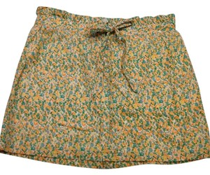 J.Crew Flowers Floral Mini Skirt yellow, blue, green, orange, white