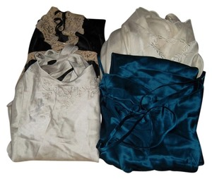 Victoria's Secret Top Blue/Black/Cream