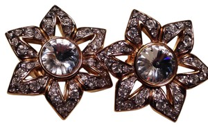 Nina Ricci Nina Ricci Rhinestone Earrings Clip on
