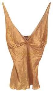 Le Château Silk Beaded Top gold