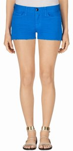J Brand Denim Low Rise Mini/Short Shorts Blue