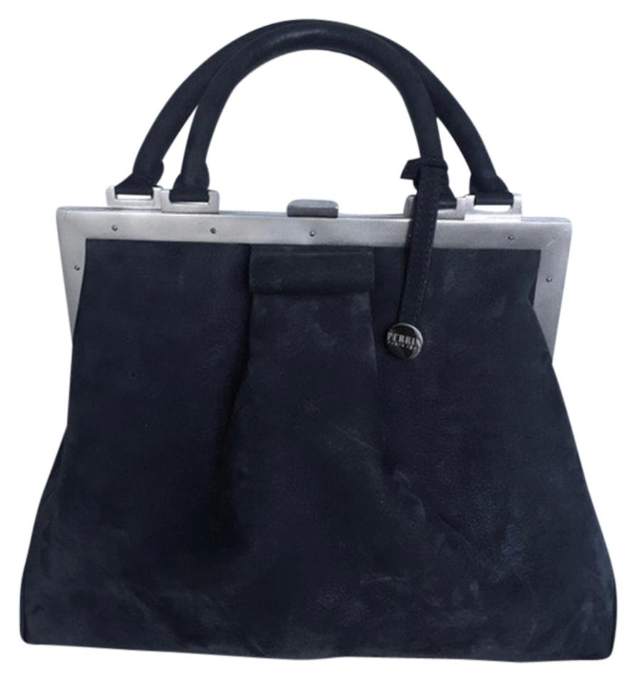 ef0347a36df Perrin Paris Suede Leather Satchel in Gray L'attelage Image 0 ...
