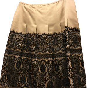 Ann Taylor Skirt Champagne and black