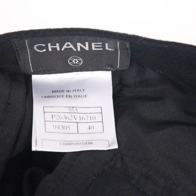 Chanel Chanel Coco Luxury Black Wool Noir Cuffed Straight Leg Pants Sz 40