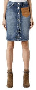 AllSaints All Saints Button Skirt Denim