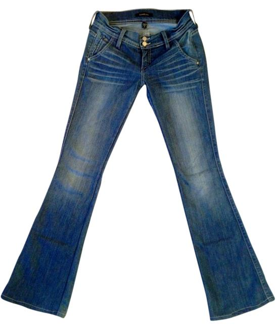 Preload https://item3.tradesy.com/images/bebe-blue-boot-cut-jeans-size-25-2-xs-1314452-0-0.jpg?width=400&height=650
