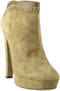 Jimmy Choo Ankle Suede Evans Whipstitch Winter Dark Beige Boots