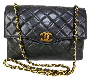 Chanel Vintage Single Flap Envelope Lambskin Cross Body Bag