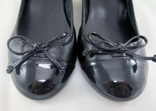 Cole Haan Cap Toe Bow Black Wedges
