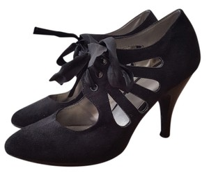 Elle Lace Up Black Formal