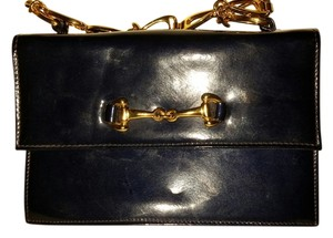 Harrods Patent Leather Vintage Blue Clutch