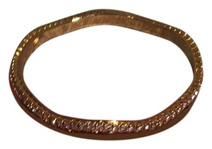 Kenneth Jay Lane Kenneth Jay Lane Bangle with Crystals & Scalloped Edge