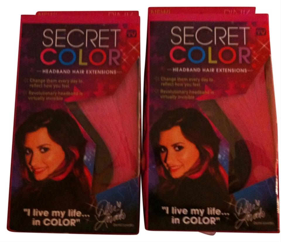 2 Boxes Hot Pink Hair Extensions By Demi Lavato Retail Tradesy