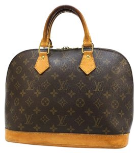 Louis Vuitton Lv Classic Gm Pm Satchel in Brown