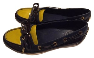Tory Burch navy yellow Flats