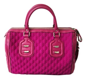 Gucci Pink Boston Satchel in Fuchsia