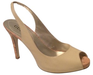 Guess By Marciano High Heel Merri Cork Nude Pumps