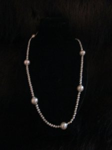 Majorica Majorica Faux Pearl and bead necklace 925