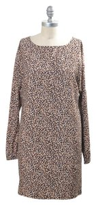 Ann Taylor LOFT short dress Pink Leopard Silky Dolman Sleeve Shift on Tradesy