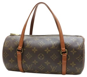 Louis Vuitton Lv Papillon Penny Lane Vintage Satchel in Brown