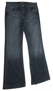 Seven for All Mankind Trouser/Wide Leg Jeans-Medium Wash
