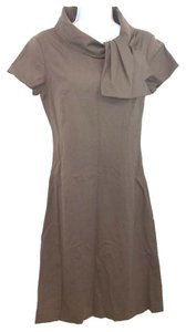 Neiman Marcus short dress BROWN Wool 4 on Tradesy