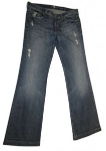 Seven for All Mankind Trouser/Wide Leg Jeans-Distressed