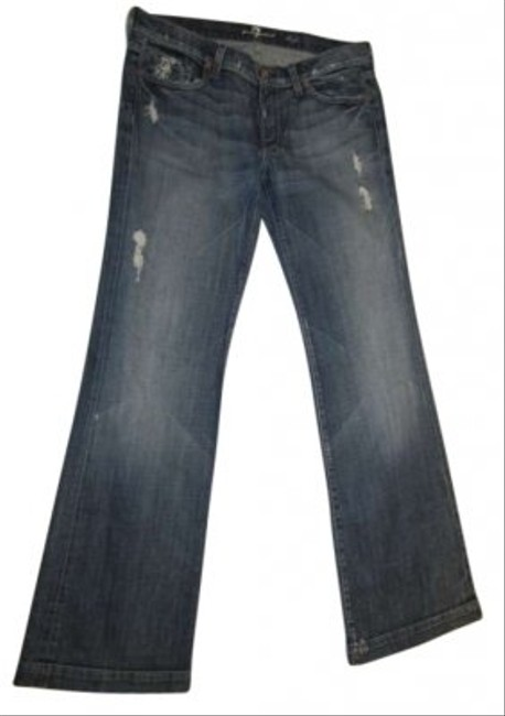 7 For All Mankind Trouser/Wide Leg Jeans-Distressed