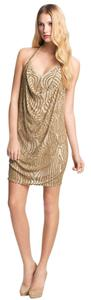 Haute Hippie Beaded Silk Halter Dress