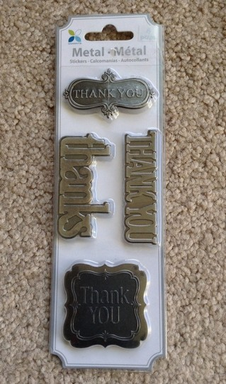 16 Metal Thank You Stickers
