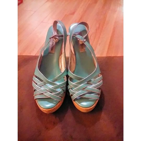 Steve Madden MINT GREEN Wedges Image 1