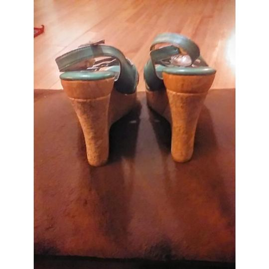 Steve Madden MINT GREEN Wedges Image 2