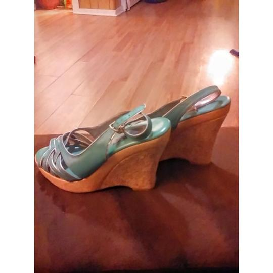 Steve Madden MINT GREEN Wedges Image 3